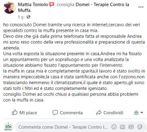 Foto testimonianza Domei Toniolo Mattia